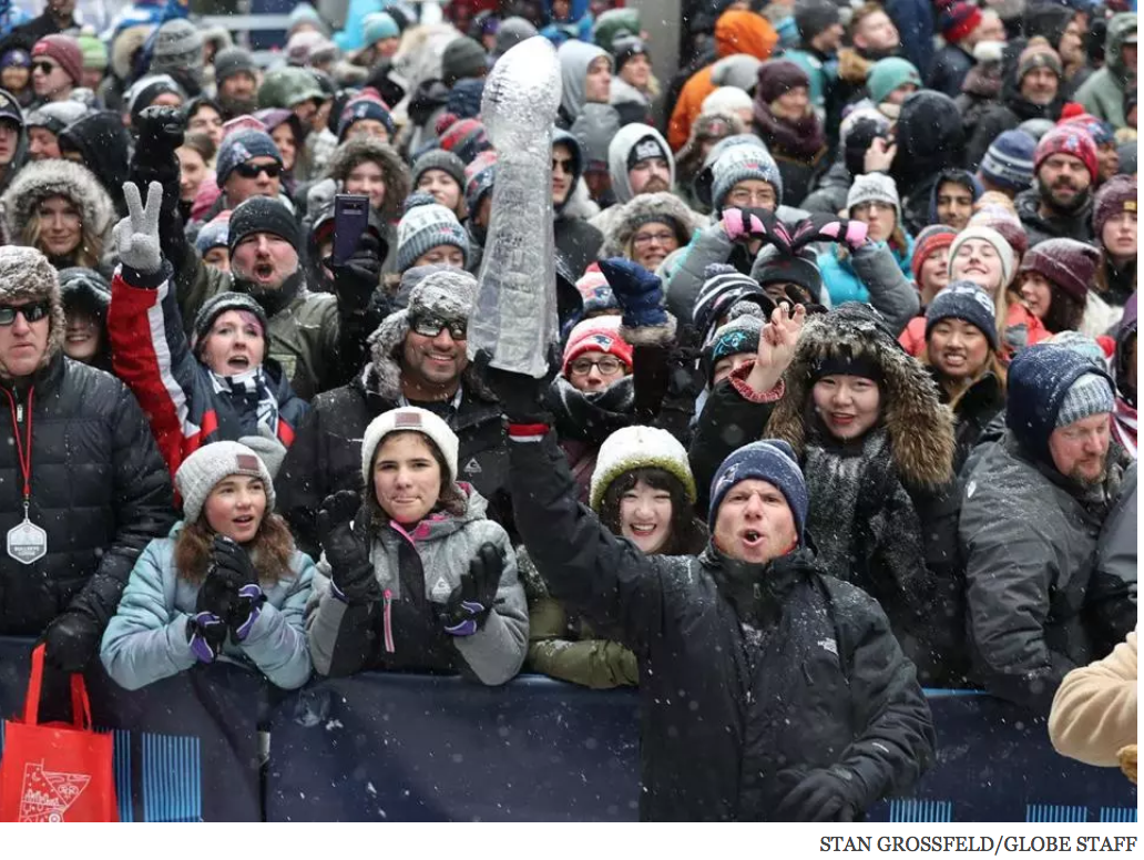 Q&A with the Boston Globe on the Psychology of Patriots Fans
